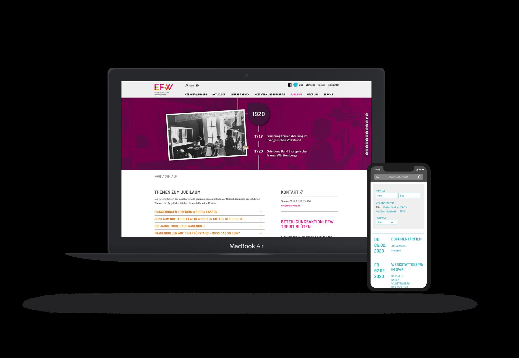 Webseite Typo3 Screendesign Programmierung