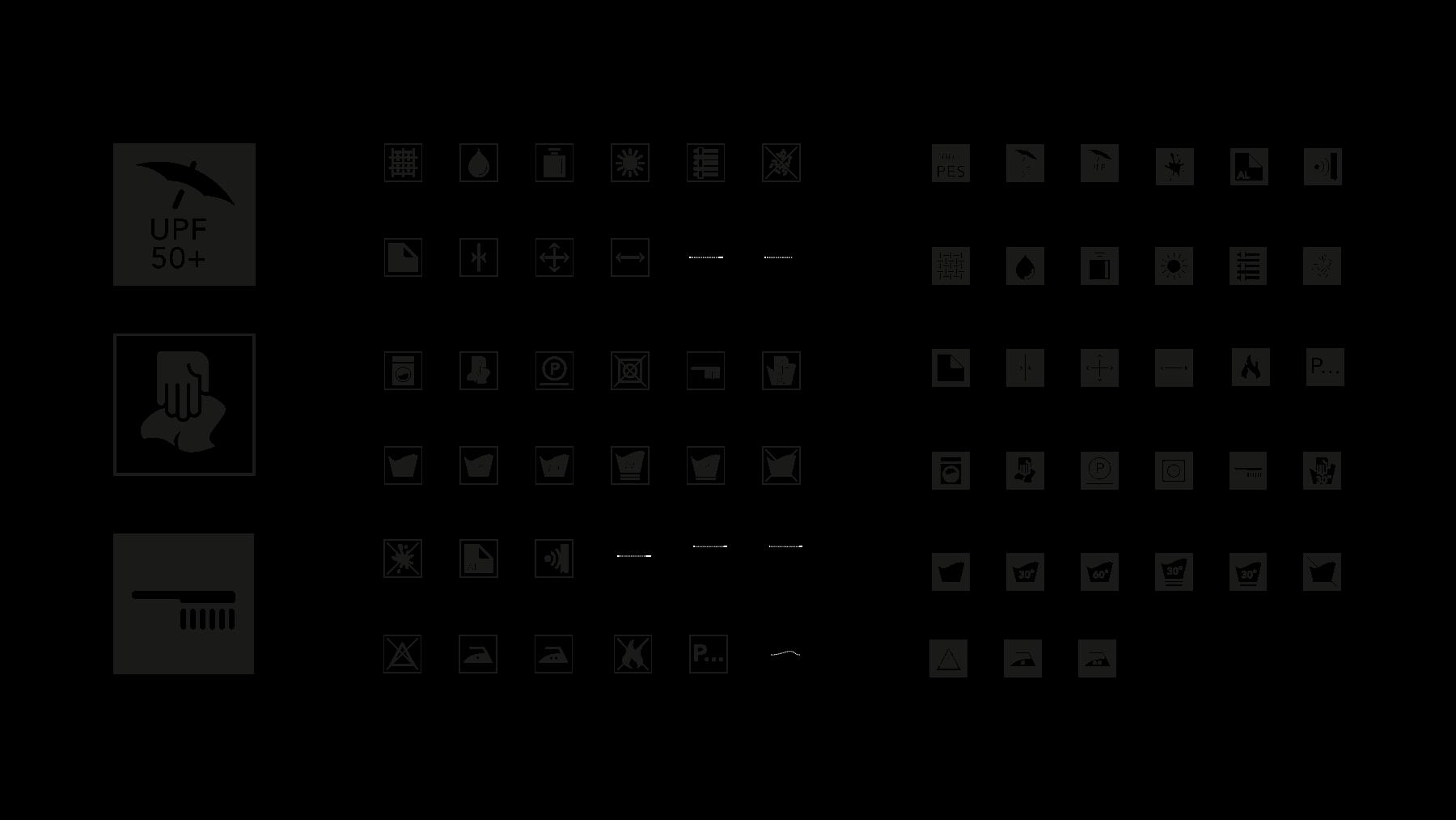 Iconserie für Waschanleitung