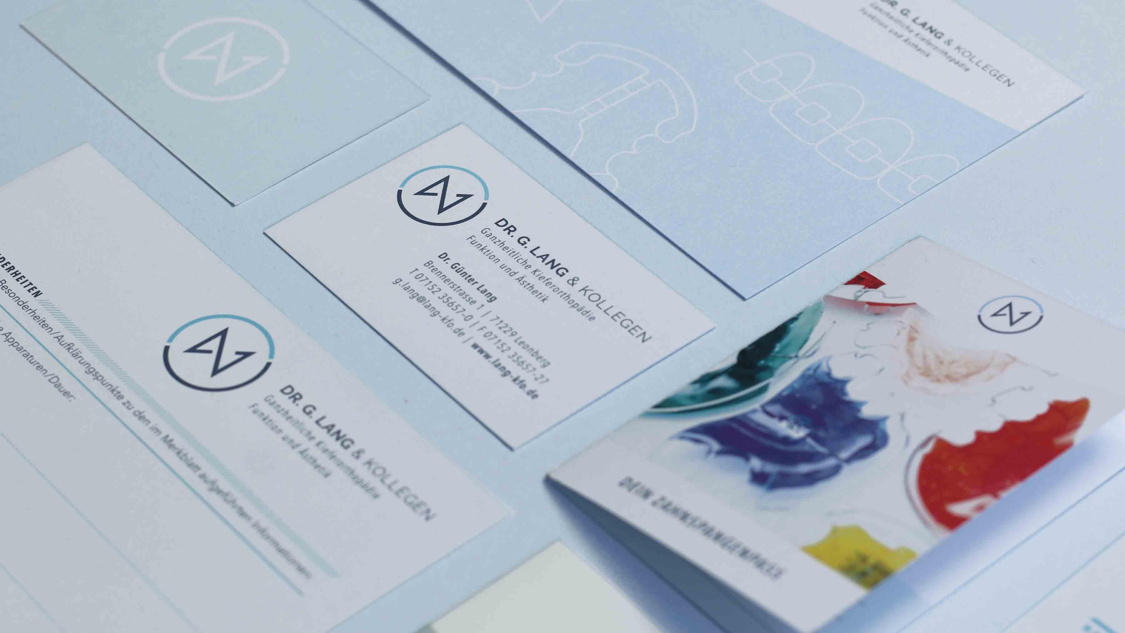 Visitenkarte Design Dr. Lang