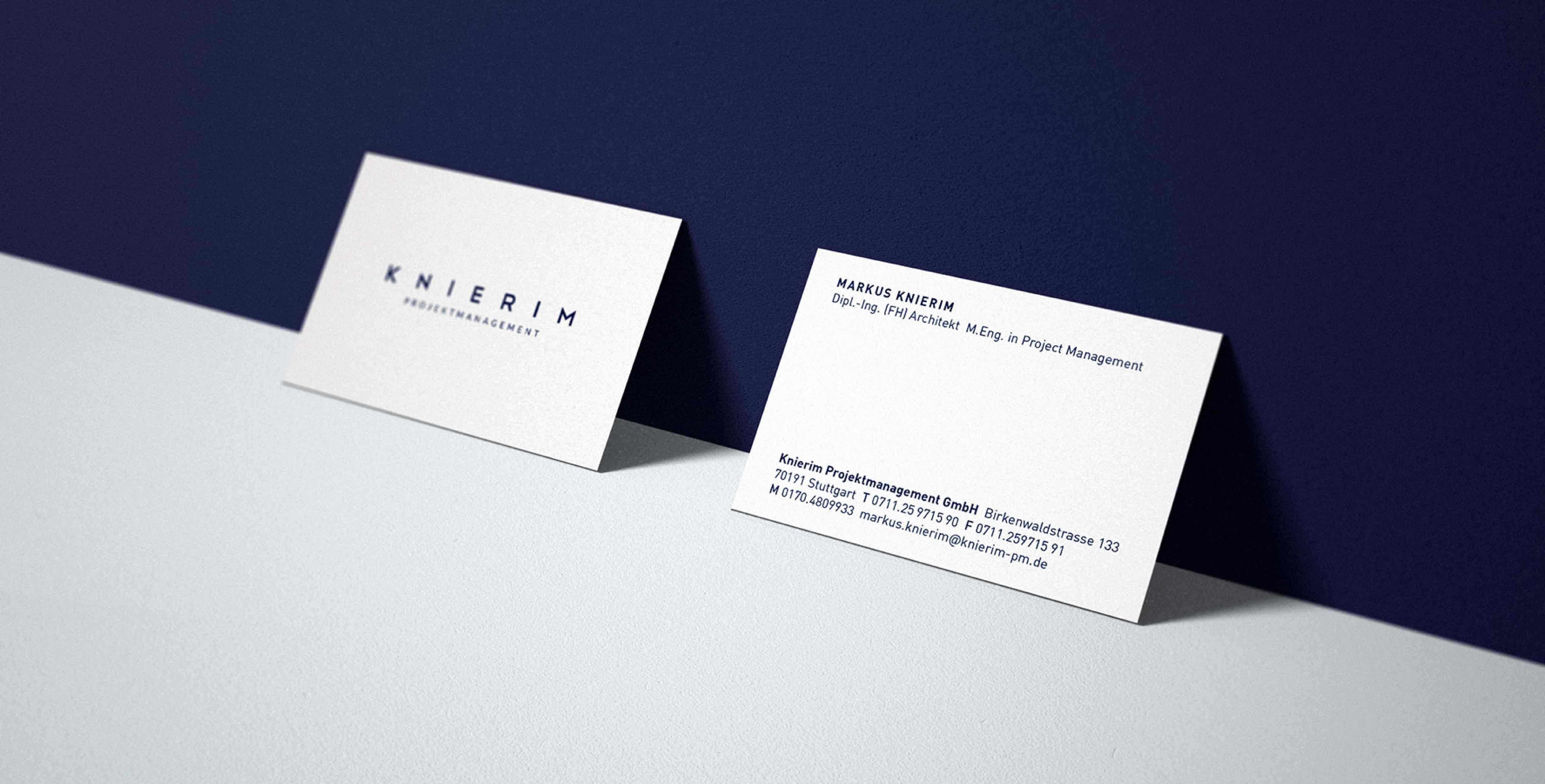 Knierim Design Visitenkarten