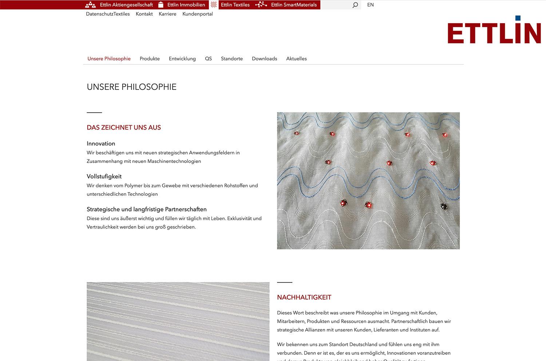 Ettlin Typo3 Webdesign Screendesign