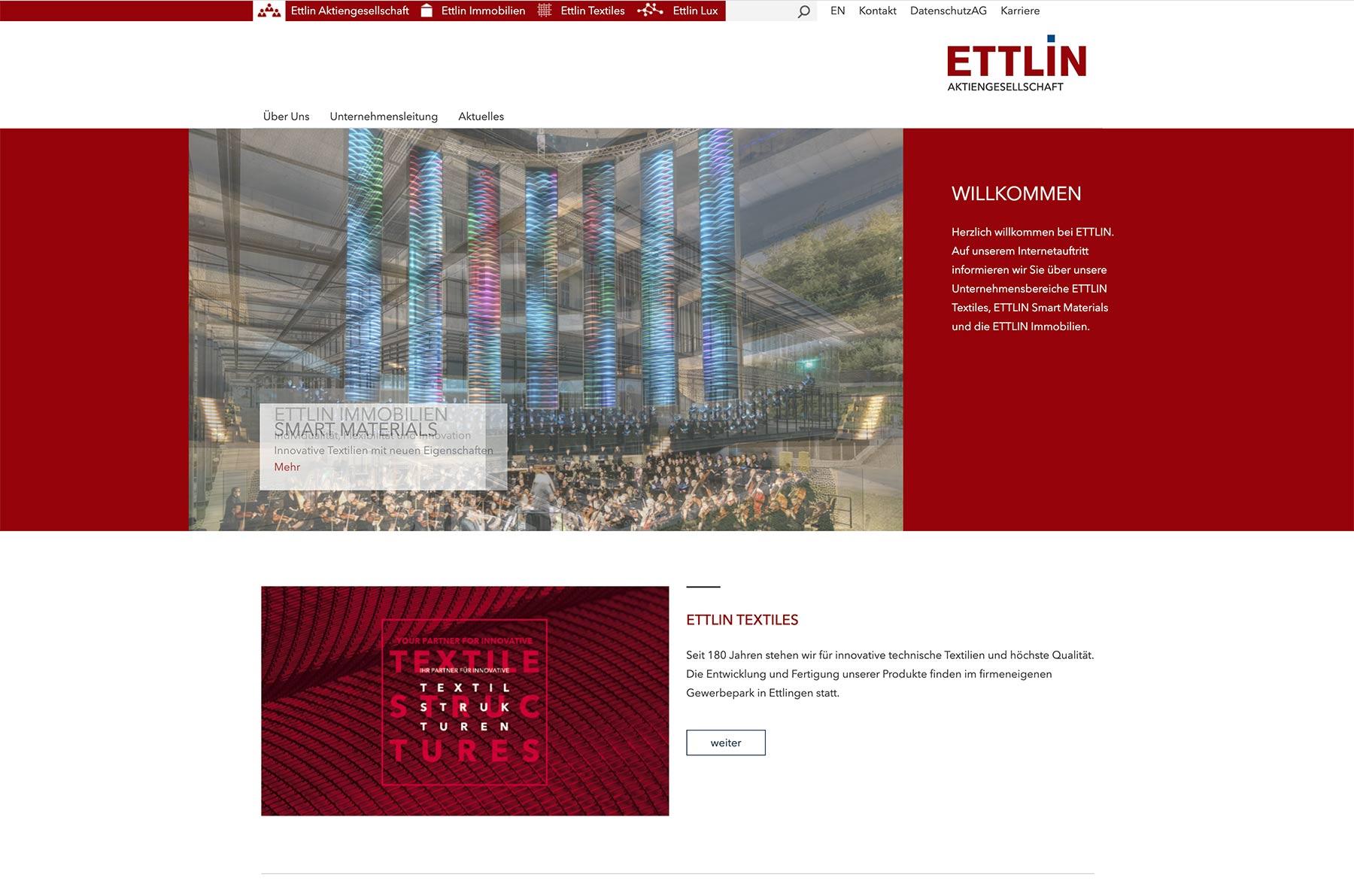 Ettlin Interaction Design Webdesign Typo3