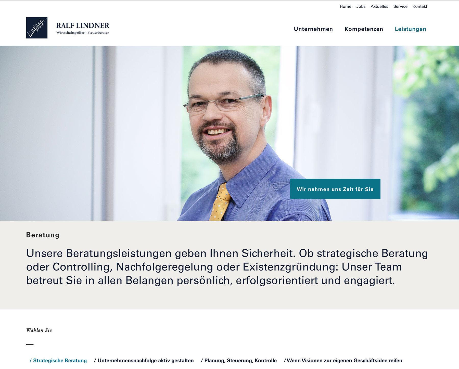 Steuerkanzlei Lindner WordPress Webdesign
