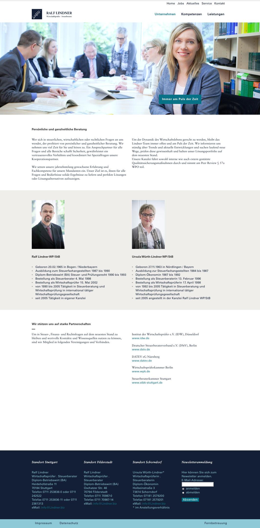 Lindner WordPress Webdesign