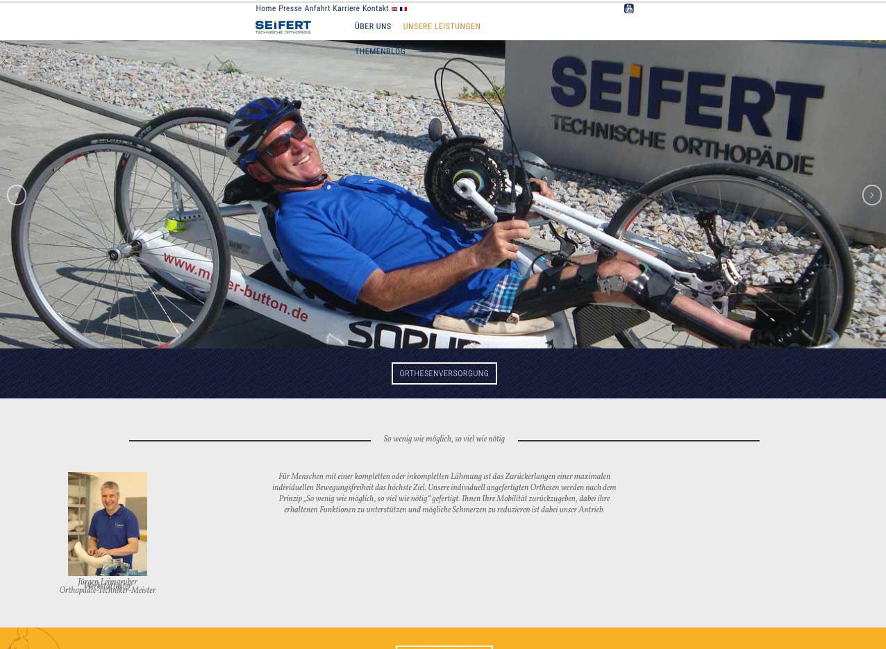 Seifert Webdesign WordPress Screendesign