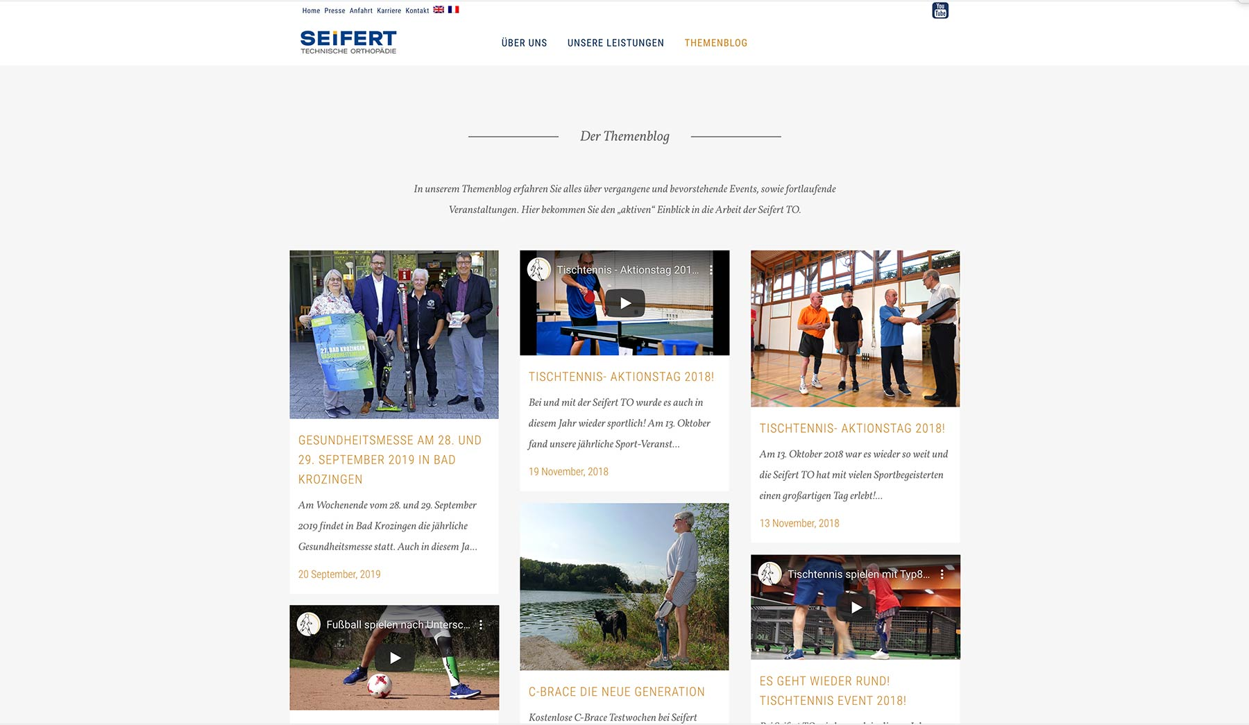 Seifert Screendesign WordPress Themenblog Design