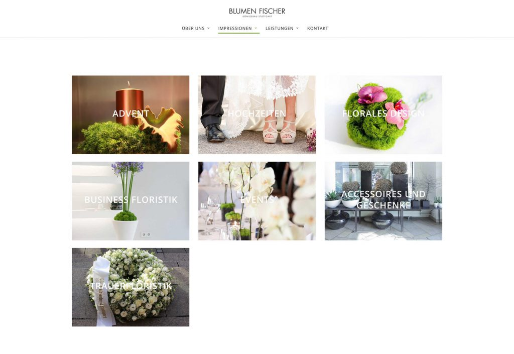 Blumenfischer WordPress Webdesign