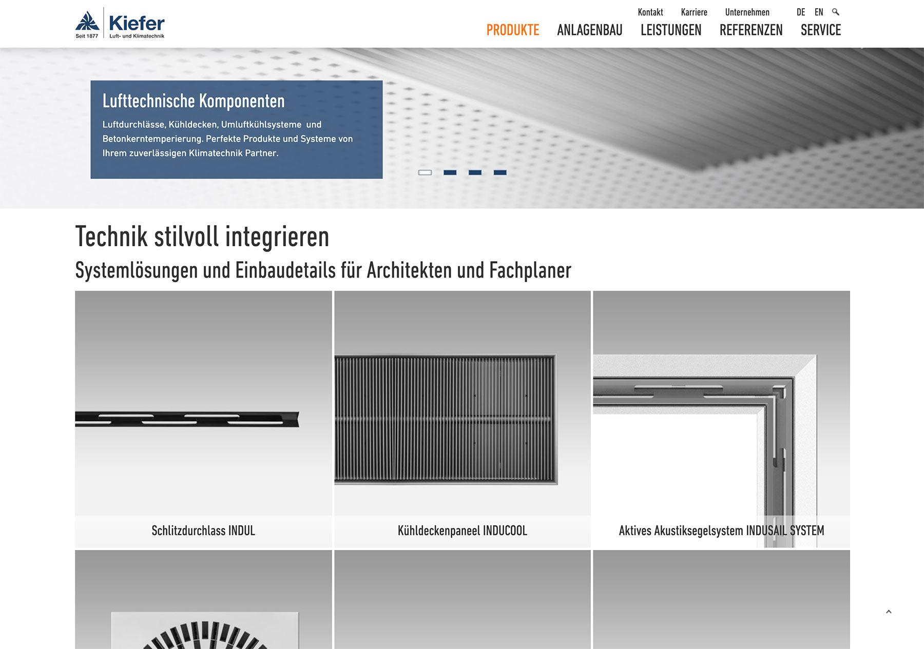 Kieferklima Typo3 Webdesign Screendesign Detail