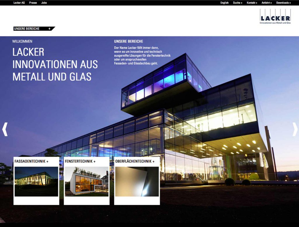 Lacker Homepage Design Agentur