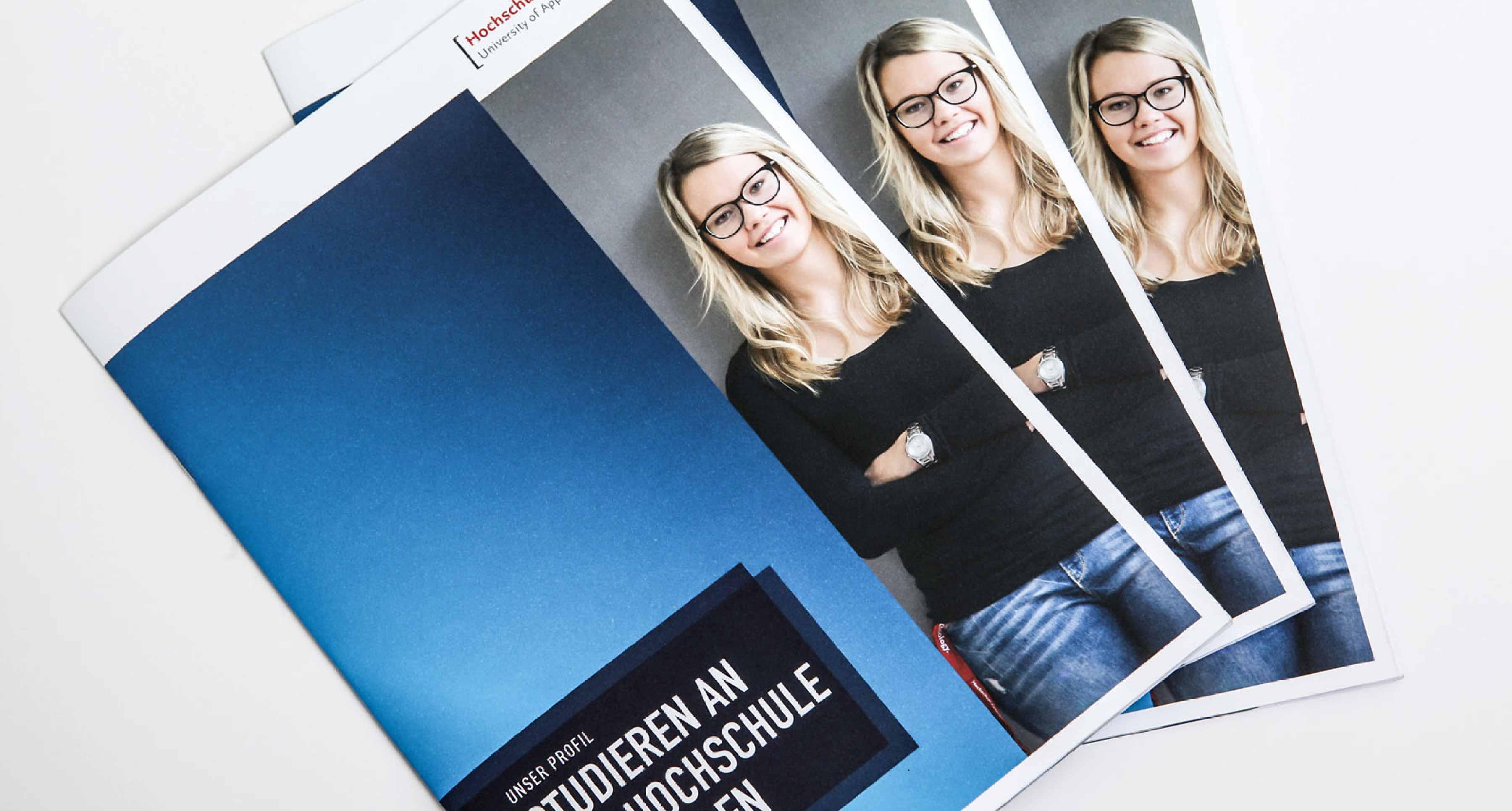 Hochschule Esslingen Imagebroschüre Cover Design