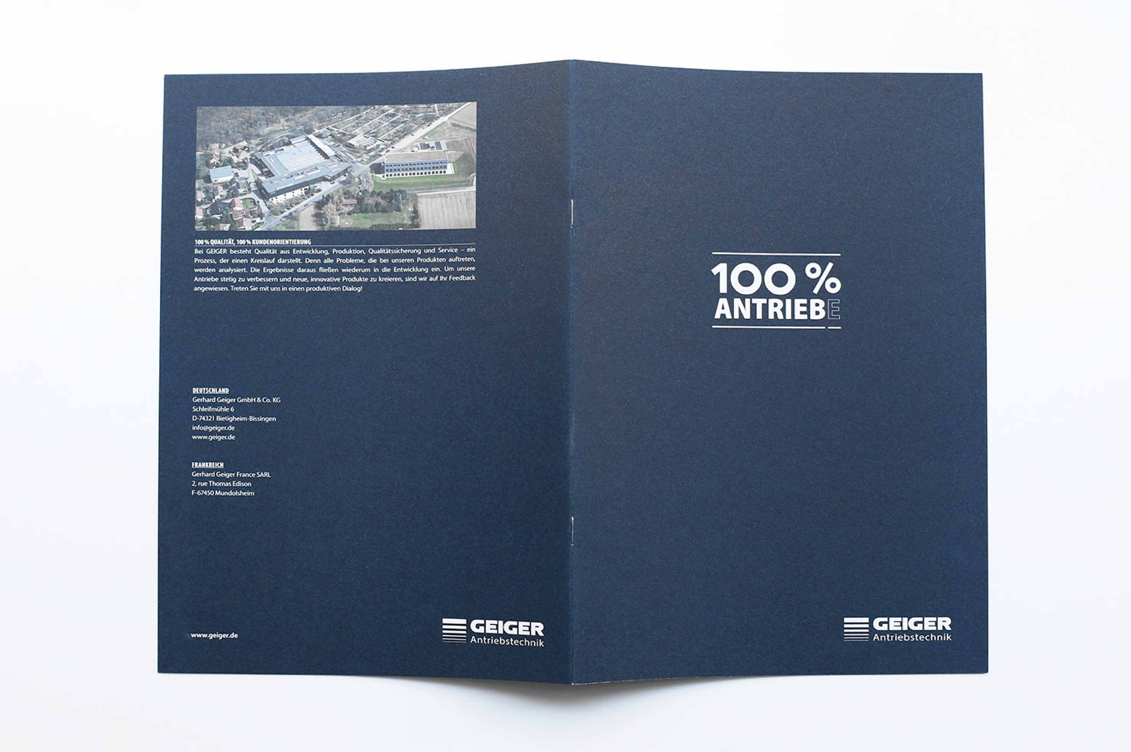 Imagebroschüre Geiger Antriebstechnik Design Cover