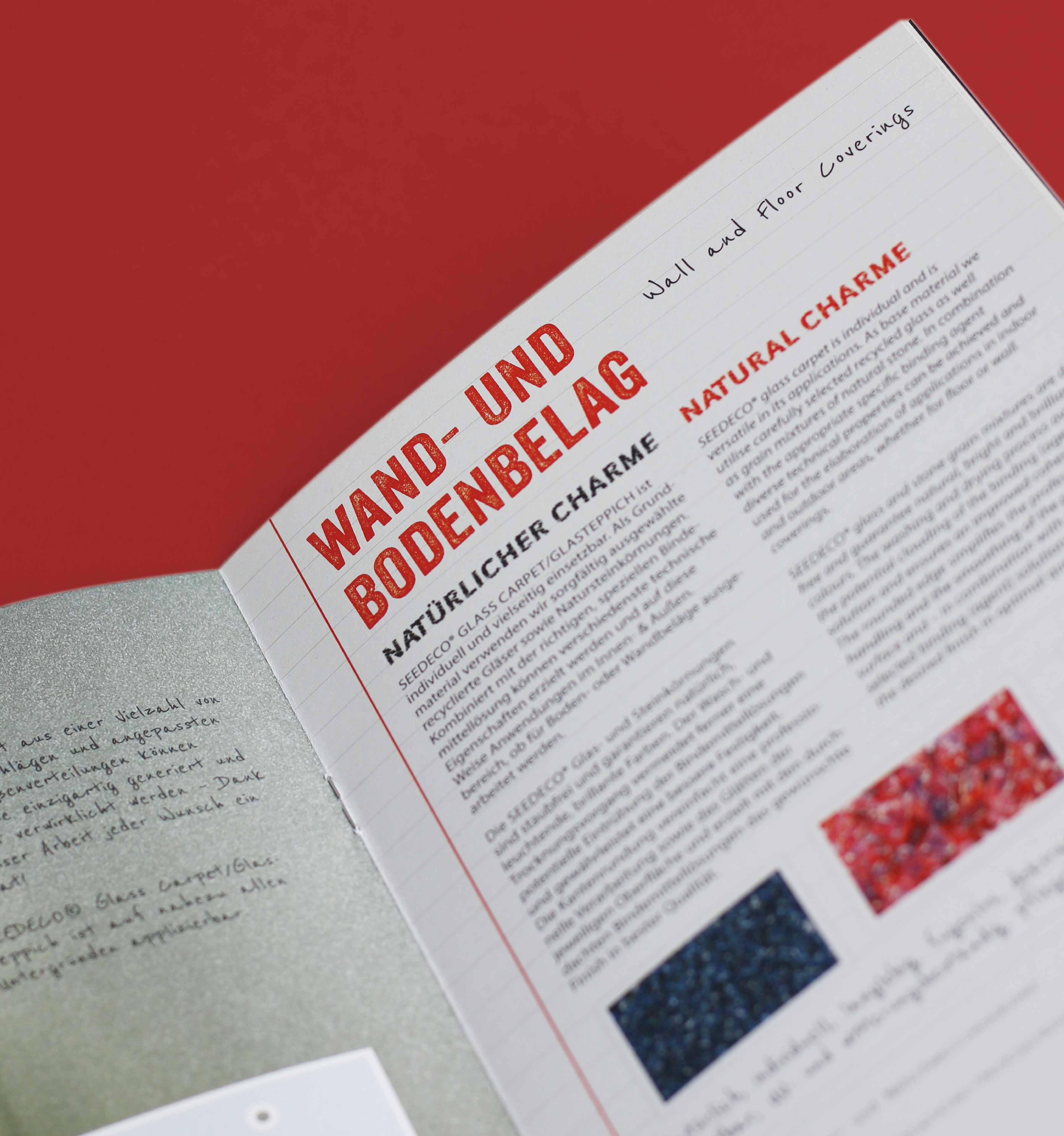 Produktkatalog Imagebroschüre Gestaltung Layout Design Seedeco