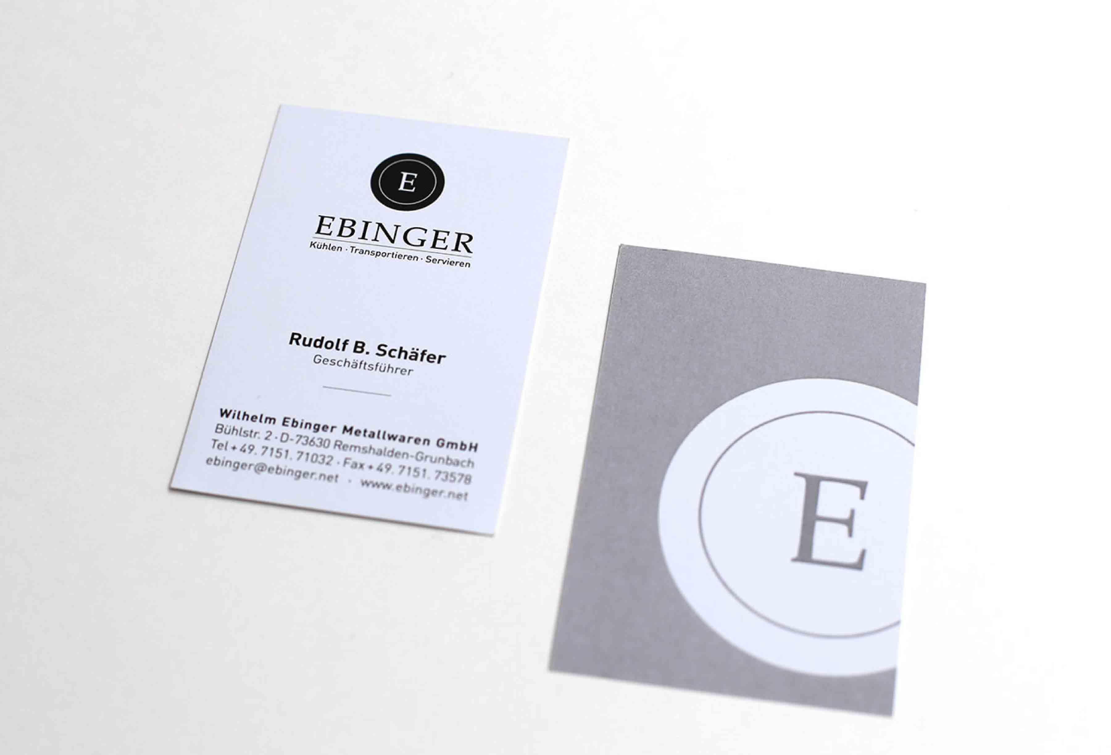 Visitenkarte Design Ebinger