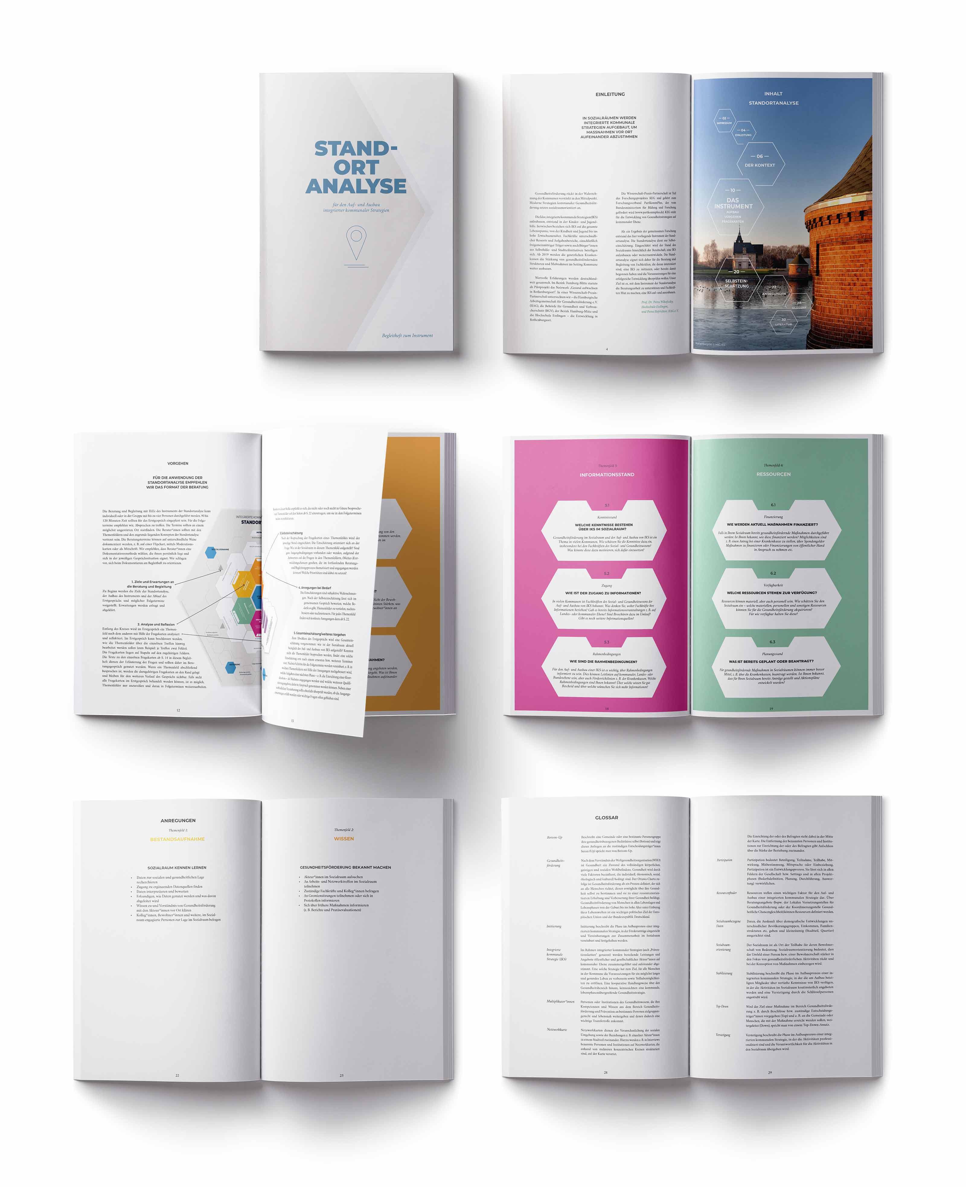 Stadortanalyse Tool Entwicklung, Print Design, Begleitheft