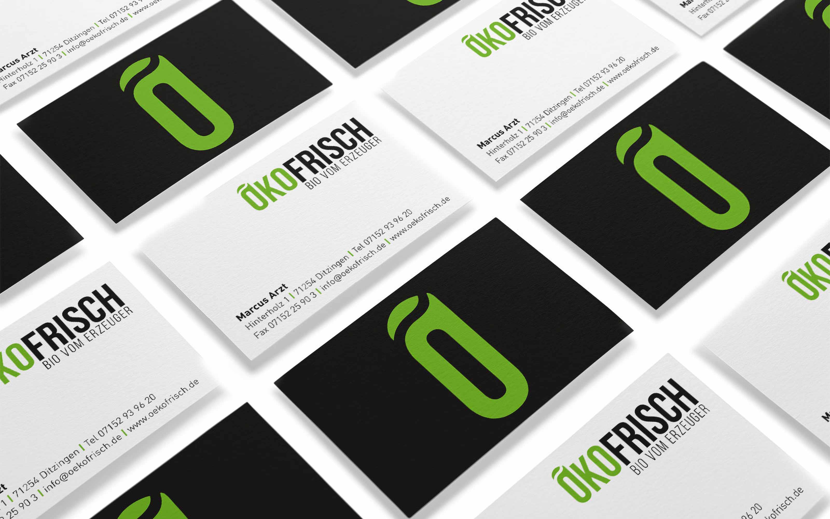 Visitenkarte Design Ökofrisch