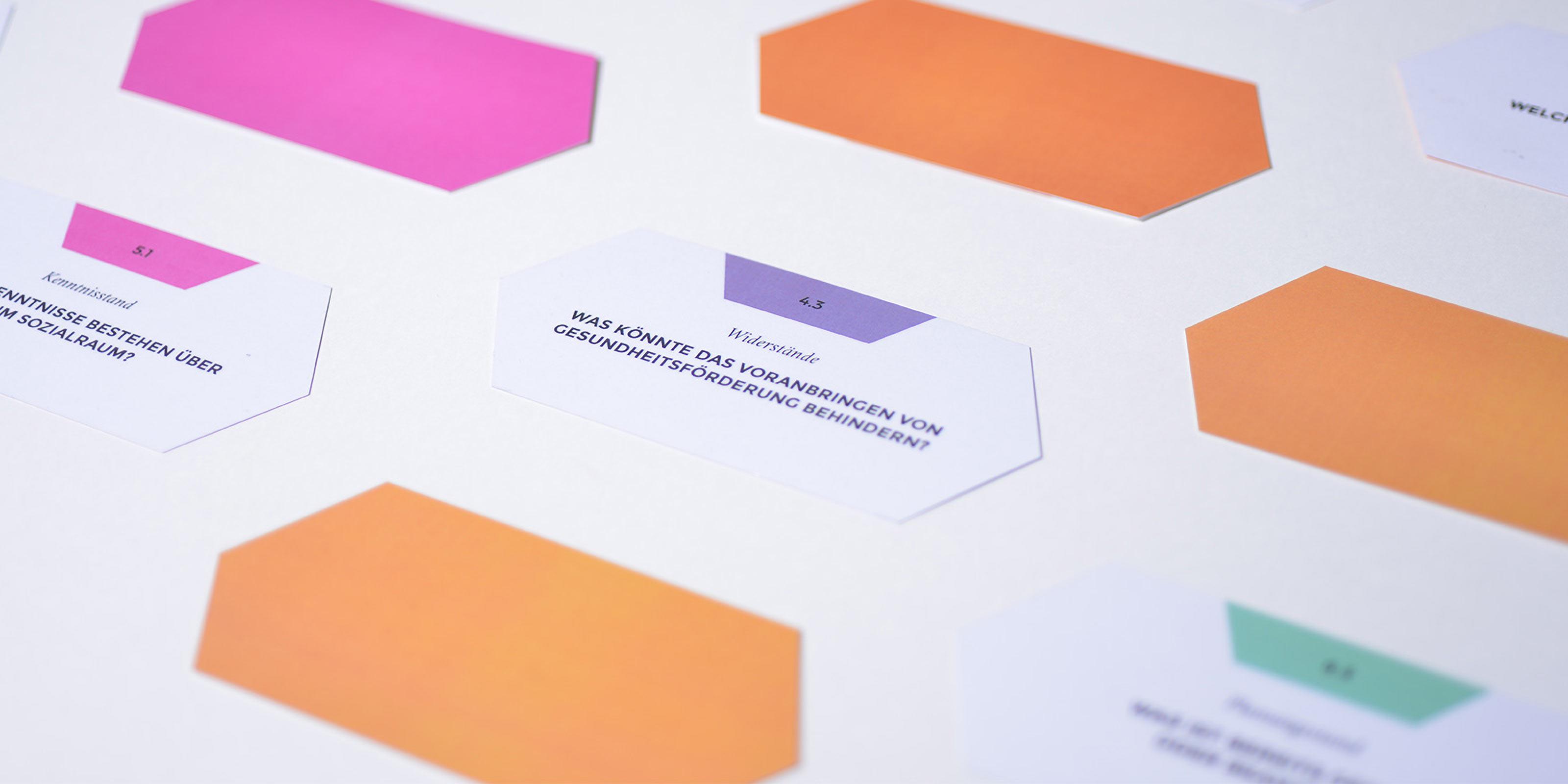 Corporate Design, Hochschule Esslingen, Tool Entwicklung, Print Design, Fragekarten