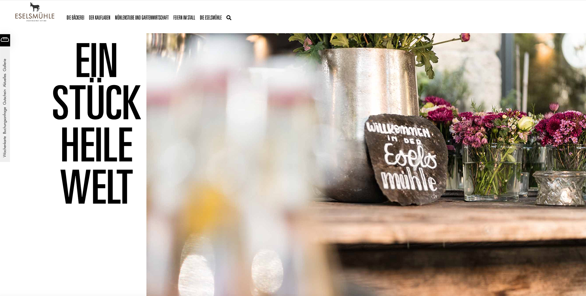 Relaunch Eselsmühle WordPress  Webdesign