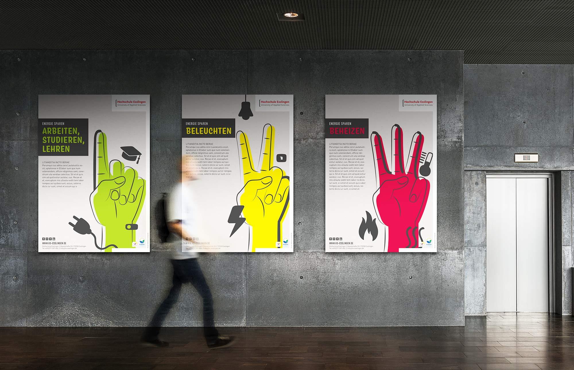 Design im Raum Umweltkampagne