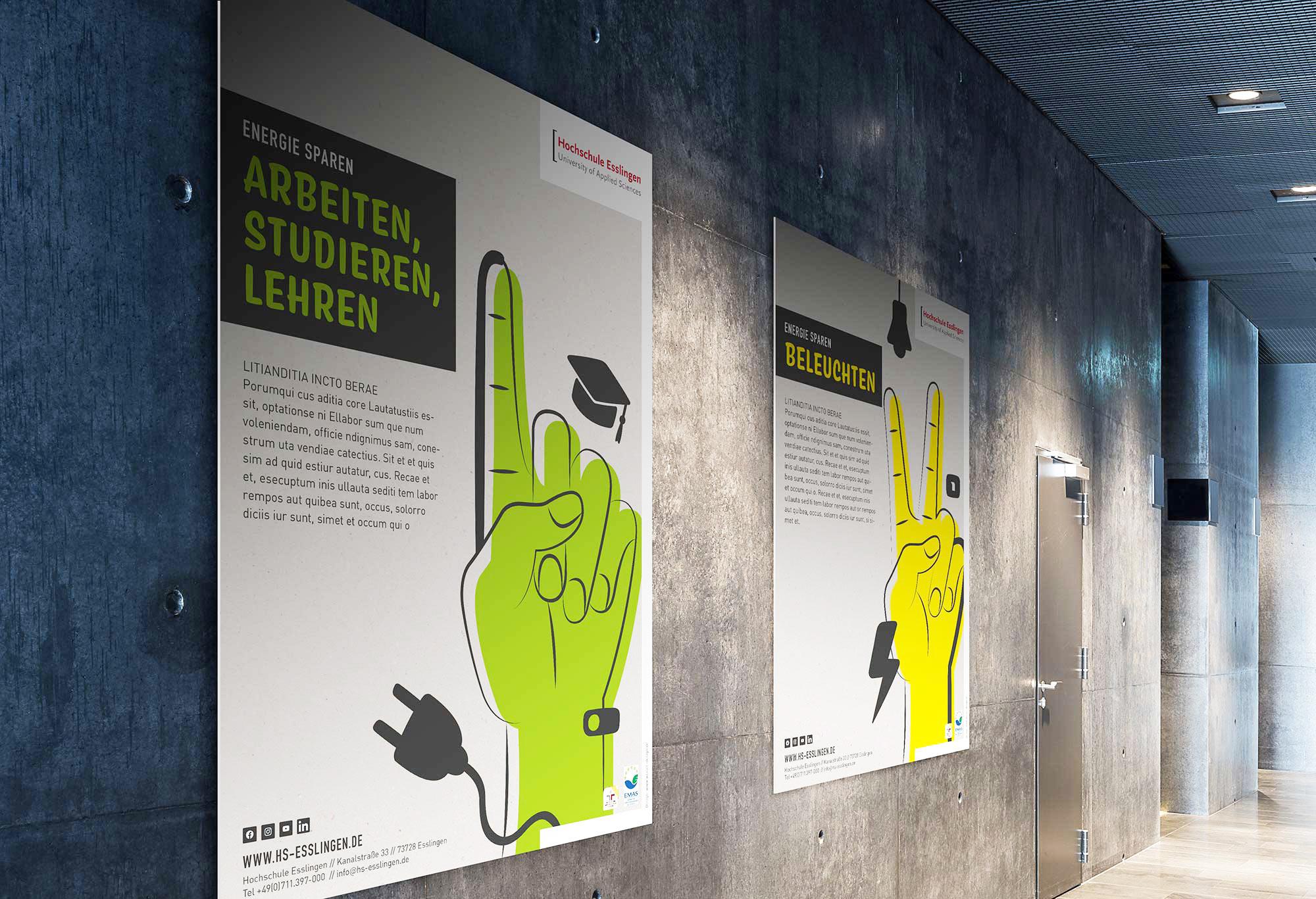 Design im Raum, Design Plakat für Umweltkampagne der Hochschule Esslingen