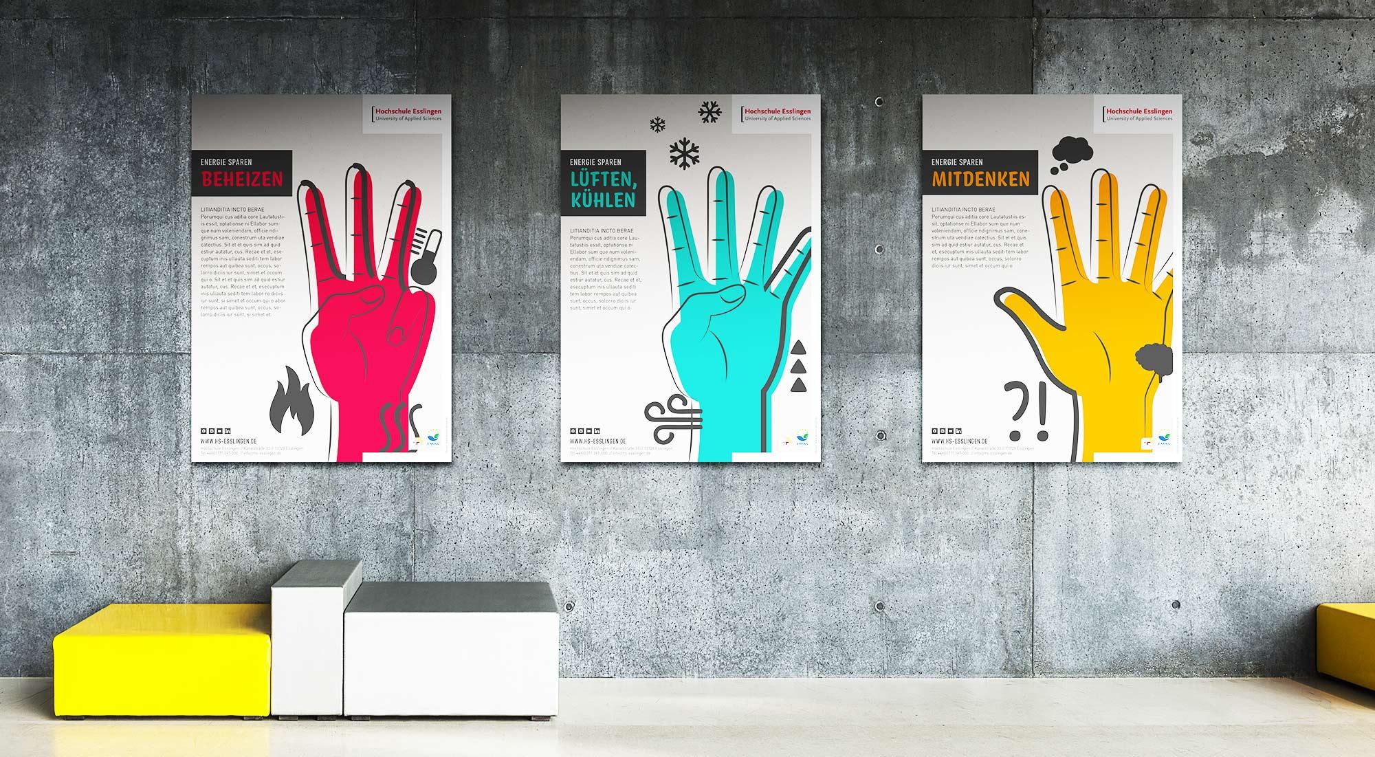 Design im Raum Plakat Gestaltung für Kampagne