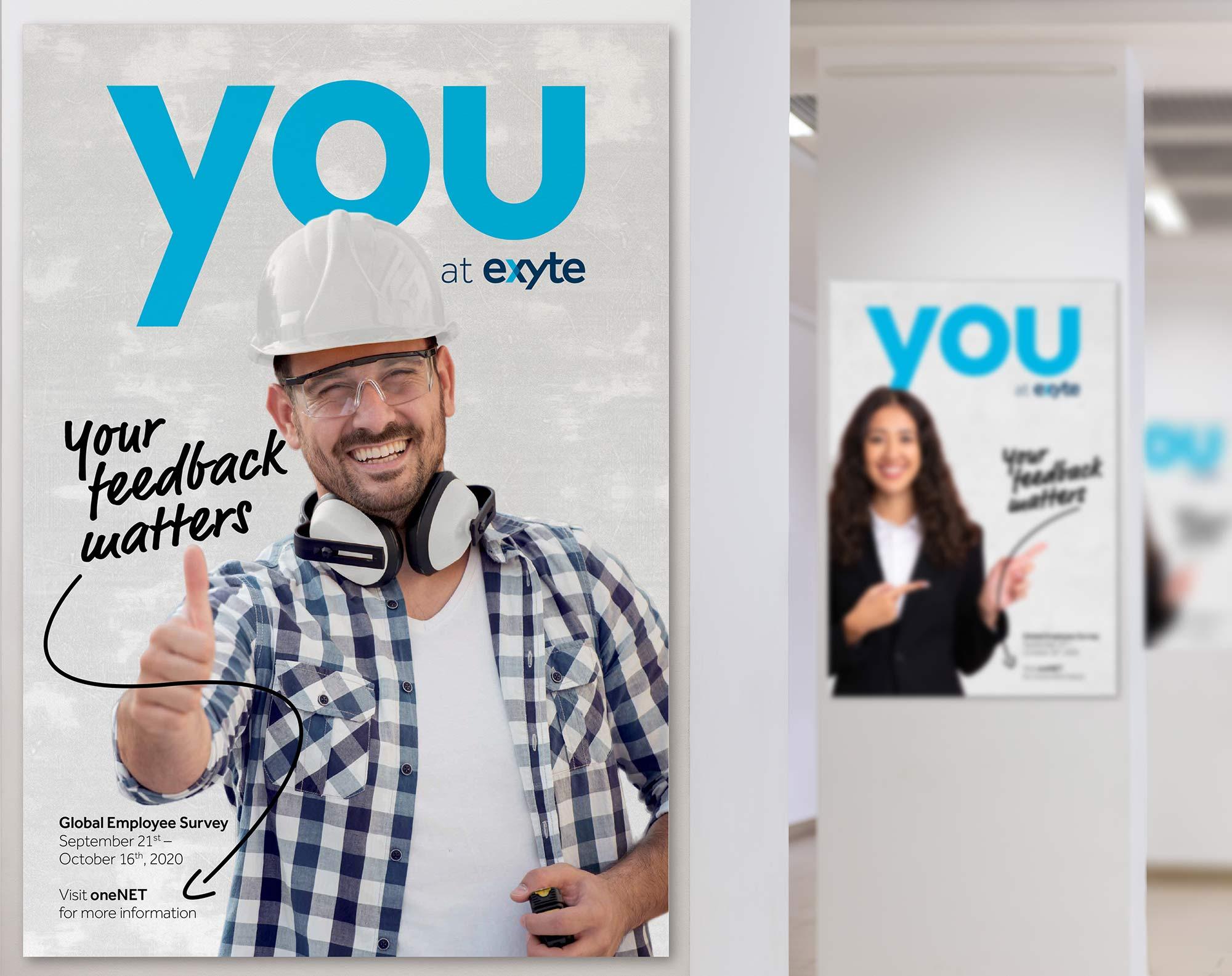 Design einer Kampagne für Mitarbeiterumfrage