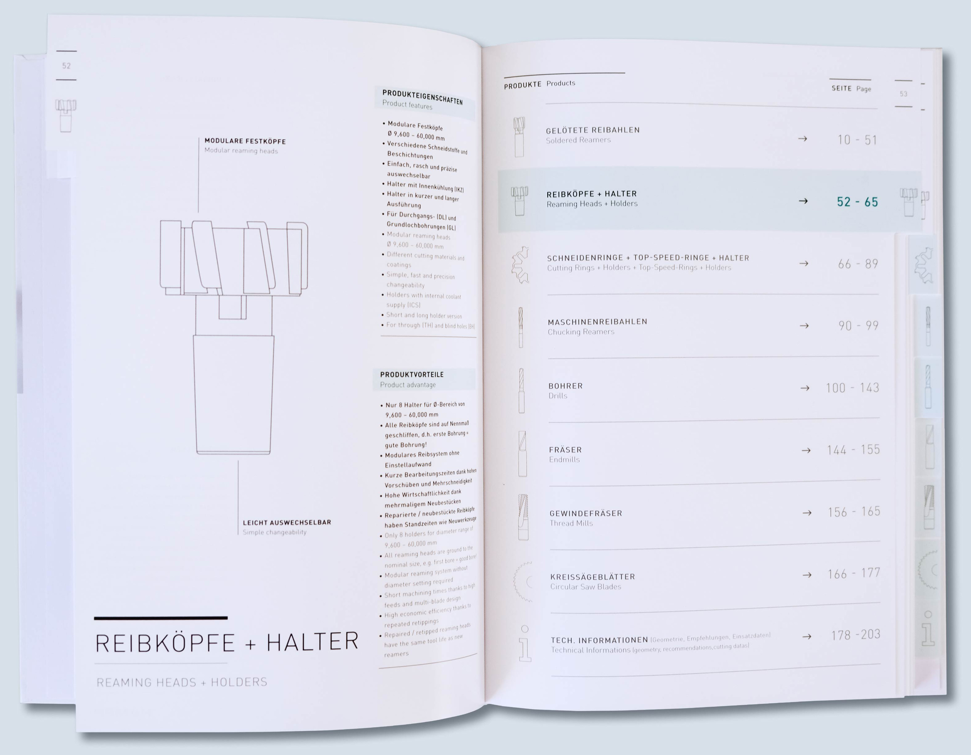 Produktkatalog Inhaltsverzeichnis Layoutdesign