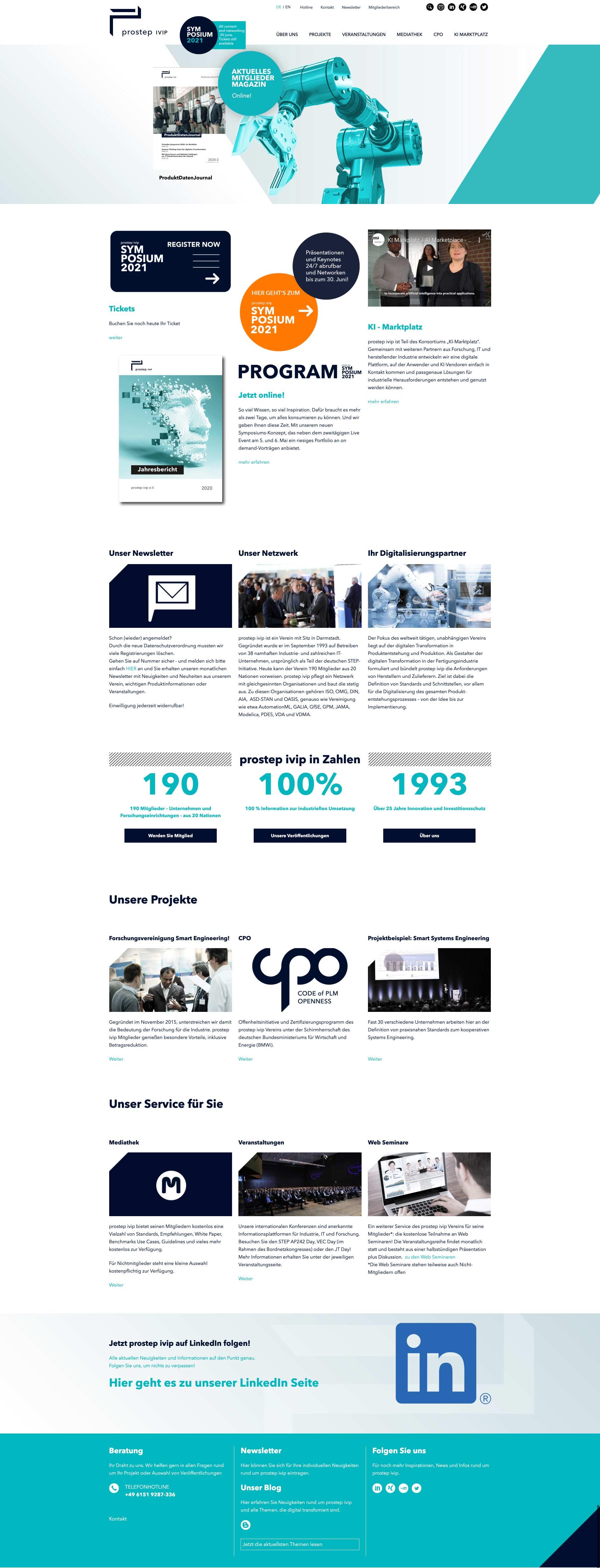 UI-Design, Webdesign, Screendesign Corporate Website von prostep ivip